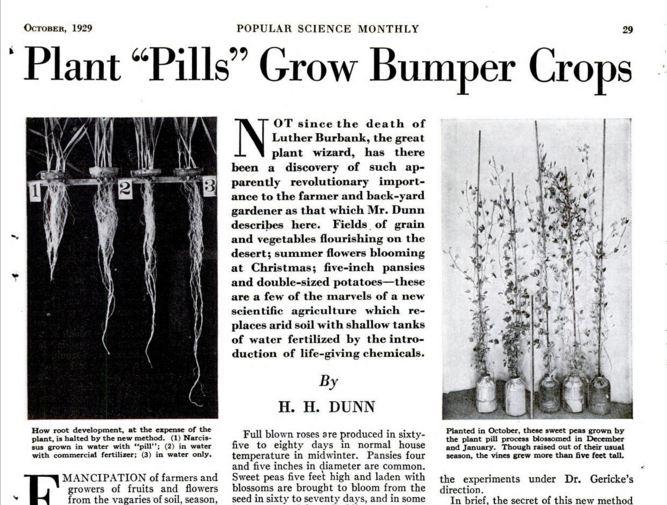 Plant Pills Grow Bumper Crops