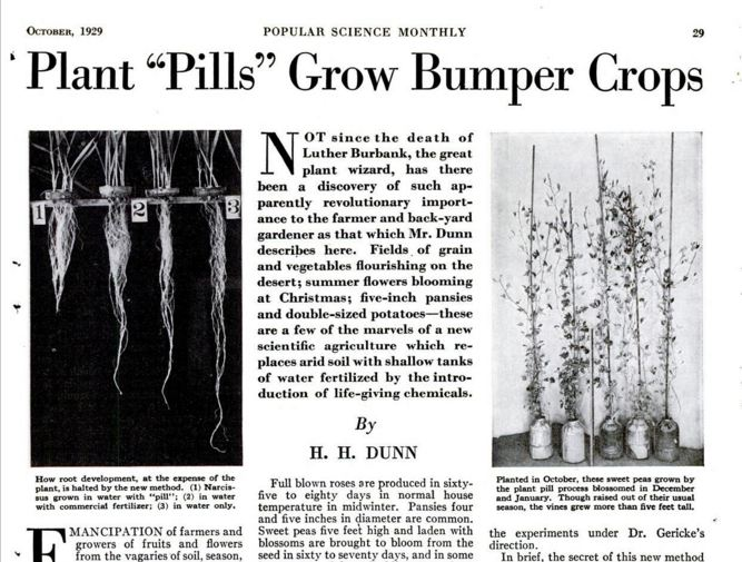 Plant Pills Grow Bumper Crops