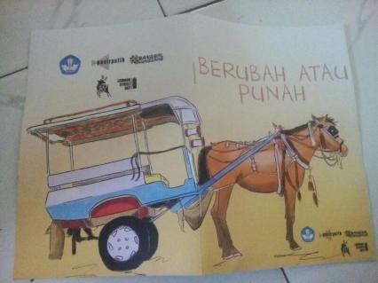 """Isi buku """"Berubah atau Punah"""" buatan Daniel Emet untuk para kusir cidomo di Kecamatan Pemenang."""