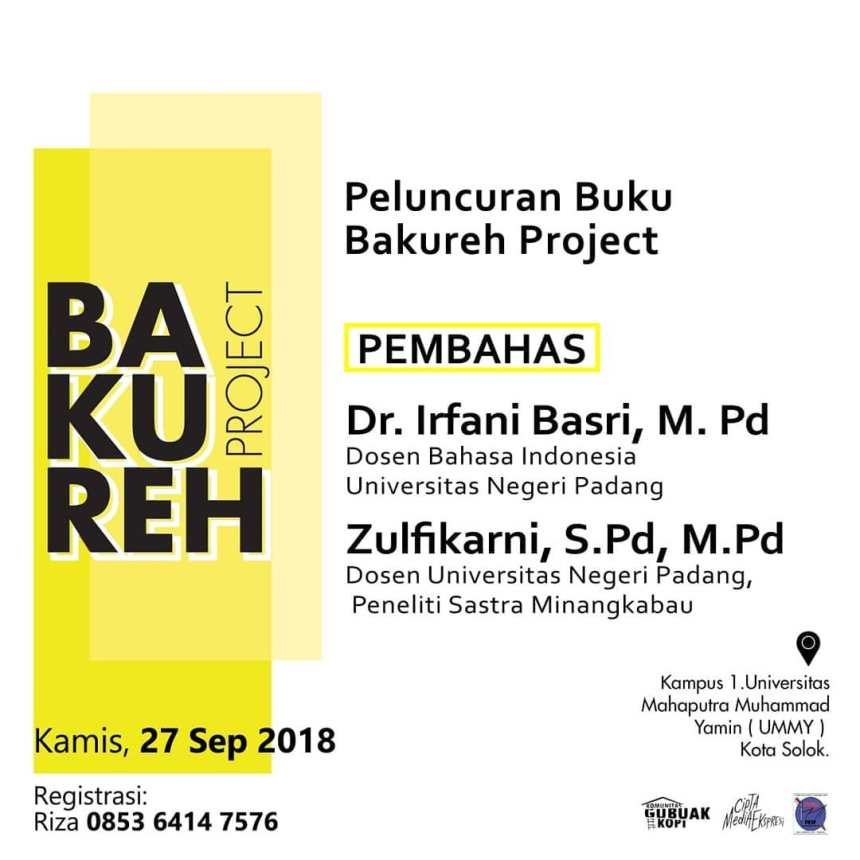 Publikasi Acara Peluncuran dan Diskusi Buku Bakureh Proejct 2018